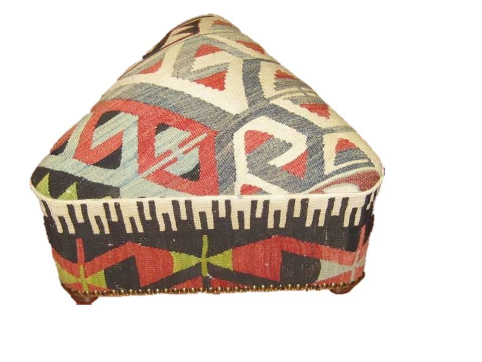 Kilim Triangle Footstool