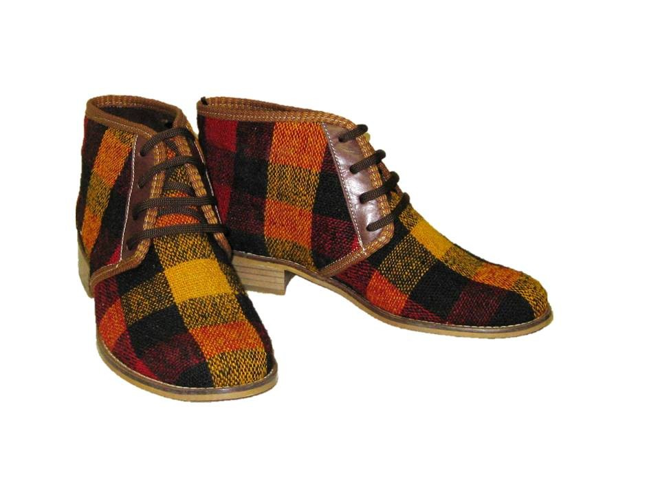 kilim ankle light boots