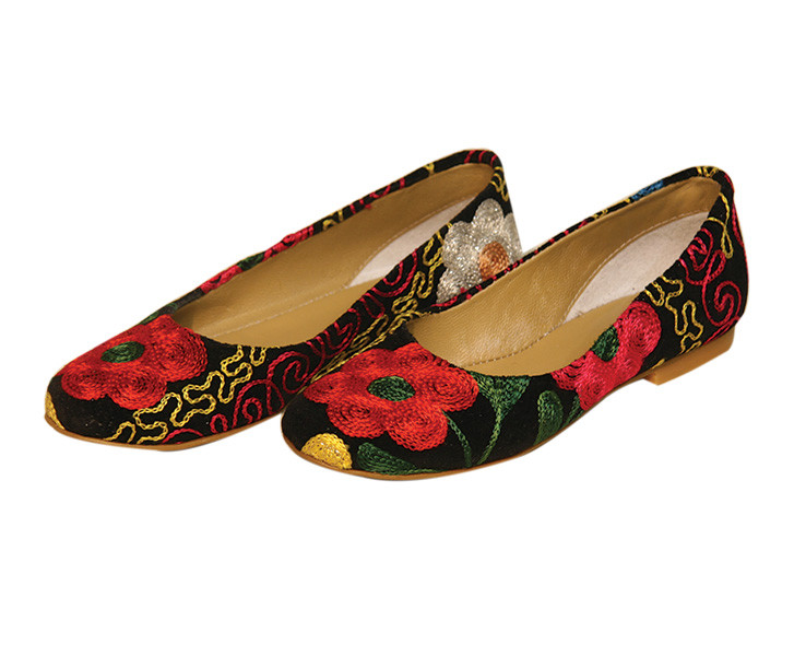 Scarlet Kilim Babet Shoes
