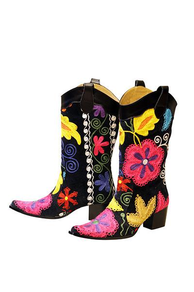 Scarlet Cowboy Kilim Boots
