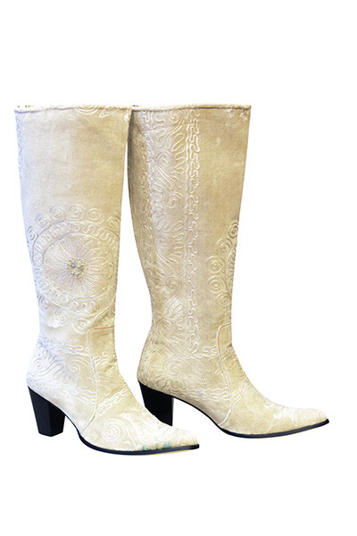Scarlet Edera Cream Kilim Boots