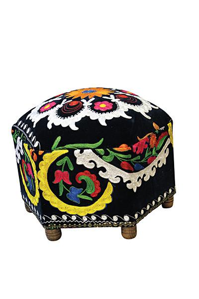 Scarlet Kilim Hexagonal Furniture