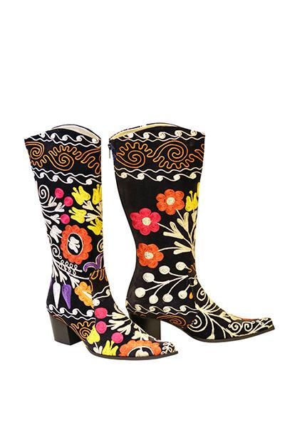Scarlet Kilim Margarita Boots