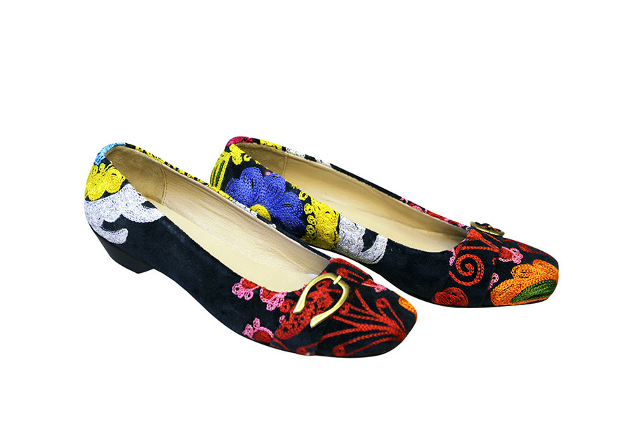 Scarlet Kilim Babet Shoes