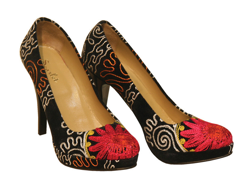 Scarlet Kilim Stiletto Shoes