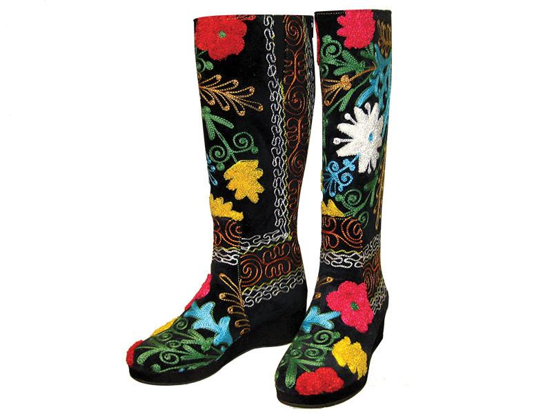 Scarlet Kilim Wedge Low Boot